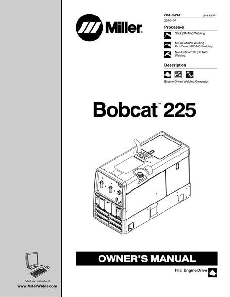 Miller Bobcat 225 D Parts Manual