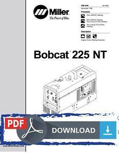 Miller Bobcat 225 Nt Owners Manual