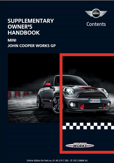 Mini Cooper S Owners Manual 2013