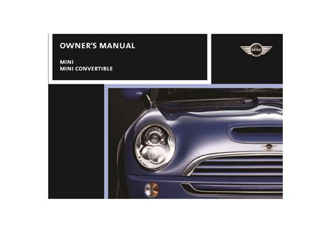 Mini Cooper S Owners Manual Convertable