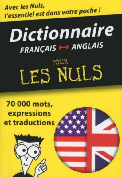Mini Dictionnaire Anglais Francais Francais Anglais Pour Les Nuls
