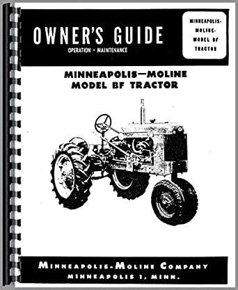 Minneapolis Moline Tractor Operator Manual
