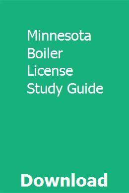 Minnesota Boiler License Exam Study Guide