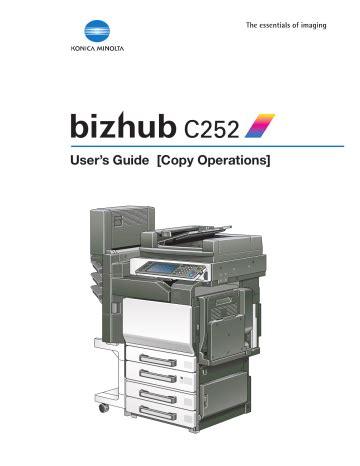 Minolta Bizhub C252 Manual