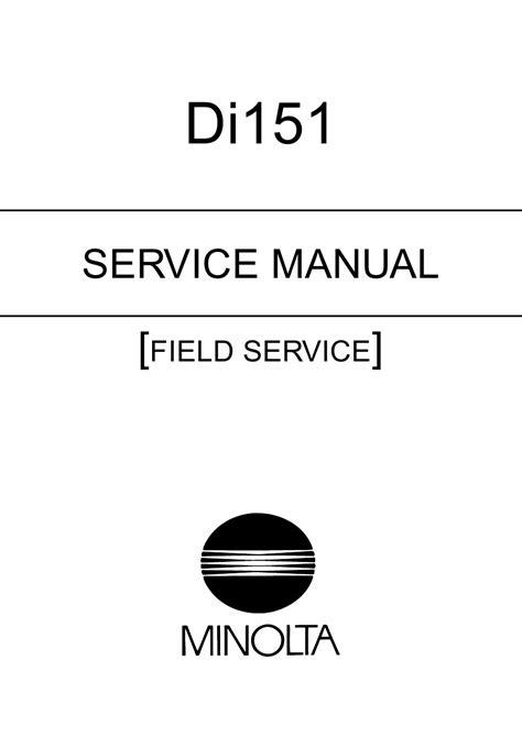 Minolta Di151 Field Service Manual