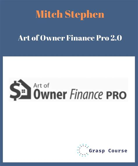 Mitch Stephen – Art Of Owner Finance Pro