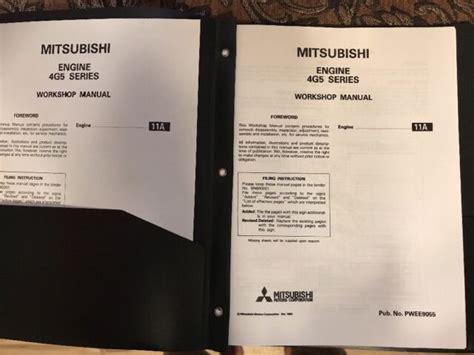 Mitsubishi 4g54 Engine Workshop Manual