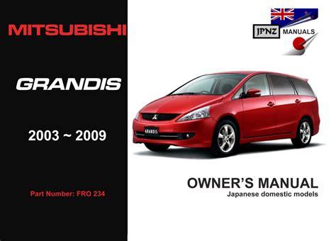 Mitsubishi Grandis 2015 Owner Manual
