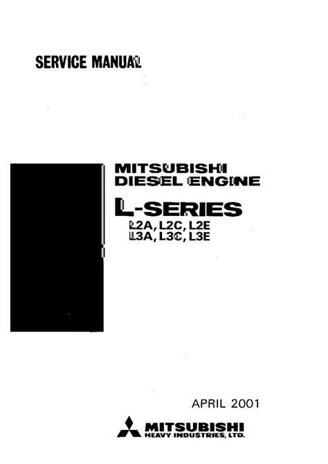 Mitsubishi L3c Engine Workshop Service Manual