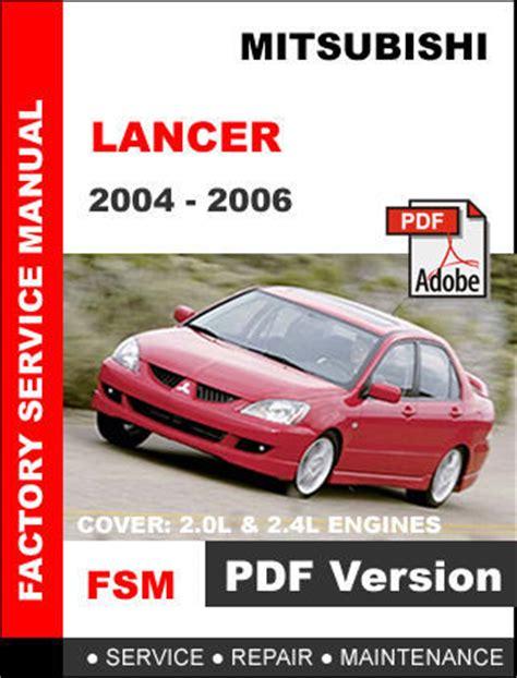 Mitsubishi Lancer 2006 Repair Service Manual