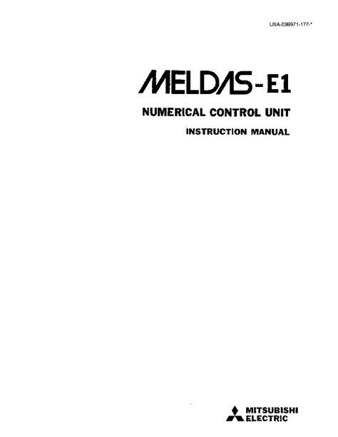 Mitsubishi Meldas Manual