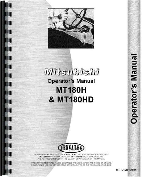 Mitsubishi Mt180h Tractor Manual