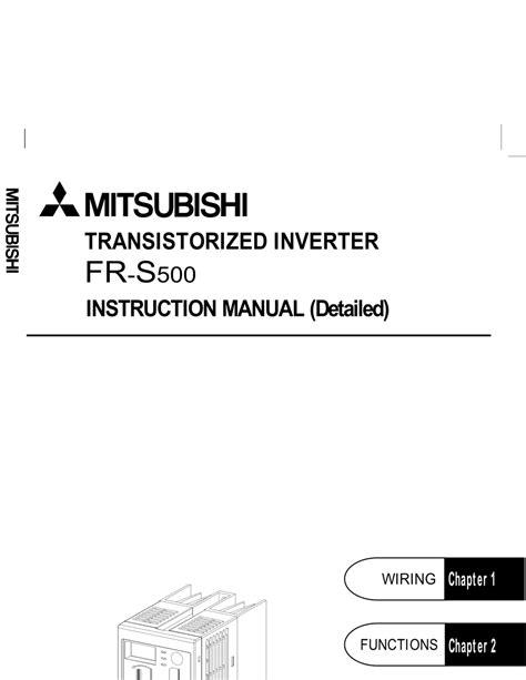 Mitsubishi S500 Manual