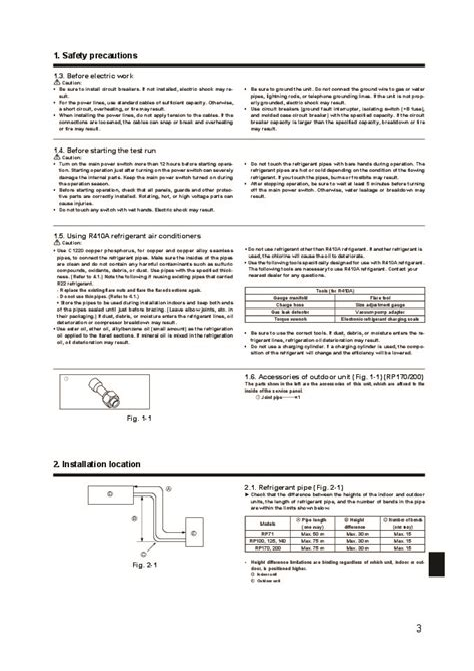 Mitsubishi Service Manual Puhz Rp Ka2