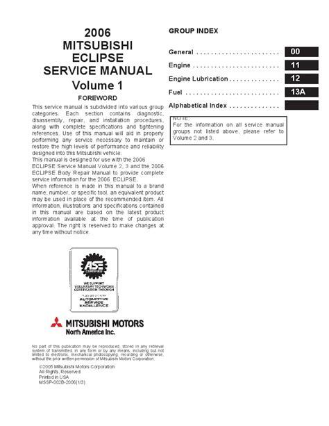 Mitsubishi Spyder 2000 2006 Service Repair Manual