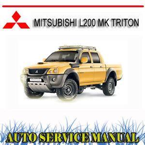 Mitsubishi Triton Ute Workshop Manual