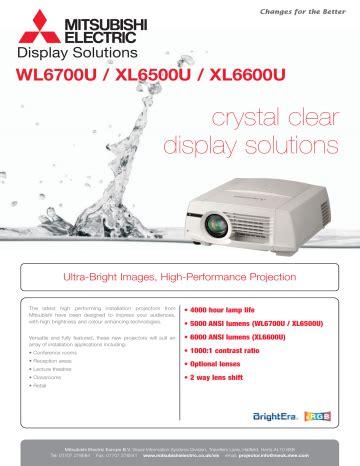 Mitsubishi Wl6700u Manual
