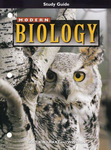 Modern Biology Study Guide Answer Holt