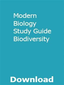 Modern Biology Study Guide Biodiversity