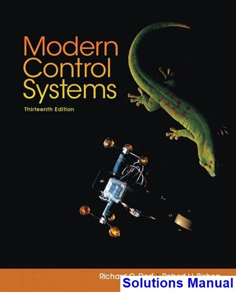 Modern Control Systems Dorf 11th Solutions Manual