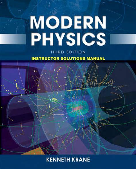 Modern Physics 3rd Solution Manual