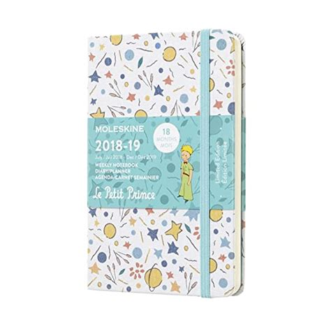Moleskine. 18 month weekly notebook. Limited edition Petit Prince white pocket
