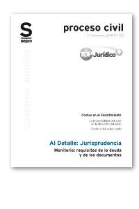Monitorio Requisitos De La Deuda Y De Los Documentos Cuaderno Juridico Al Detalle