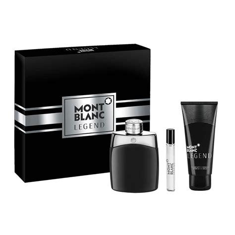 Montblanc Legend By Mont Blanc Gift Set 3 3 Oz Eau De Parfum Spray 25 Oz Mini Edp Spray 3 3 Oz After Shave Balm Men