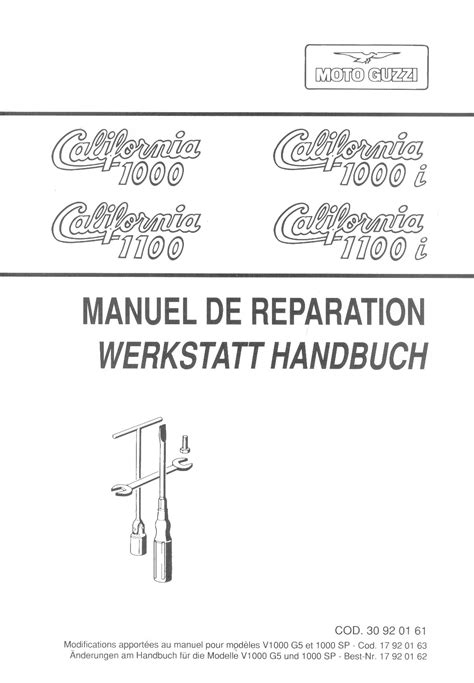 Moto Guzzi California 1000i 1100i Factory Repair Manual