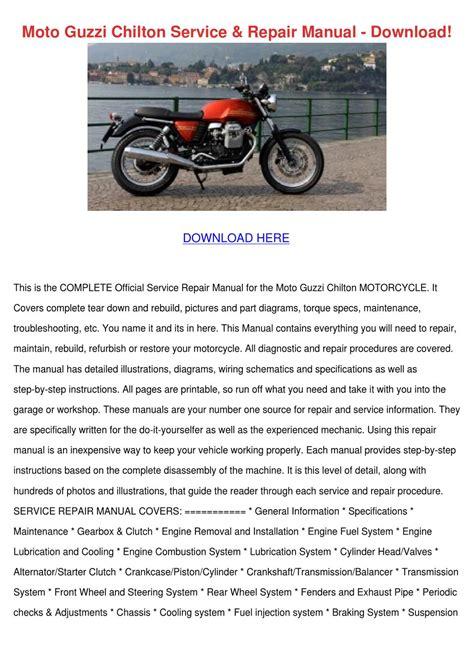 Moto Guzzi Chilton Service Repair Manual