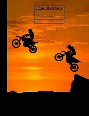 Motocross Sunset Composition Notebook College Ruled 7 44 X 9 69 200 Pages