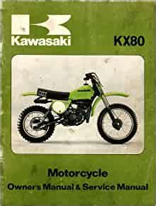 Motorcycle Kx 80 Repair Manual