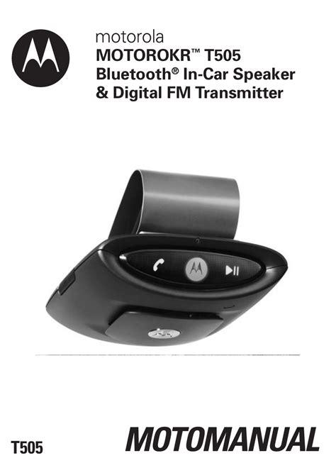 Motorola Bluetooth T505 User Manual