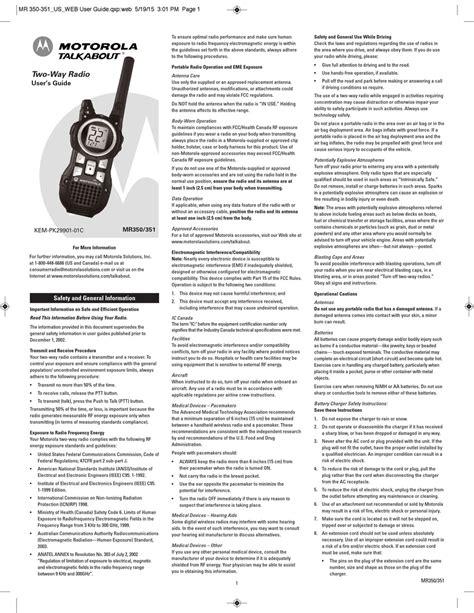 Motorola Ms350r Manual