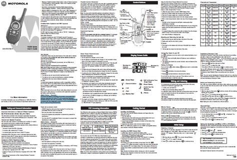 Motorola Talkabout Basic Manual