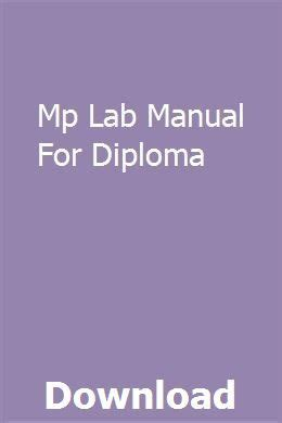 Mp Lab Manual For Diploma