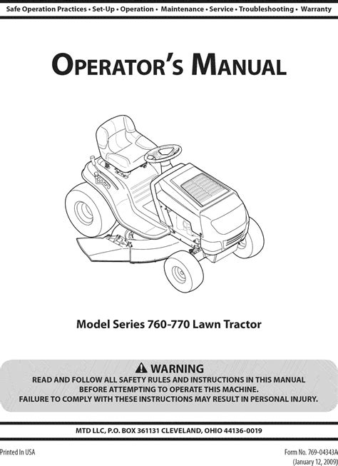 Mtd Lawn Mower User Manual