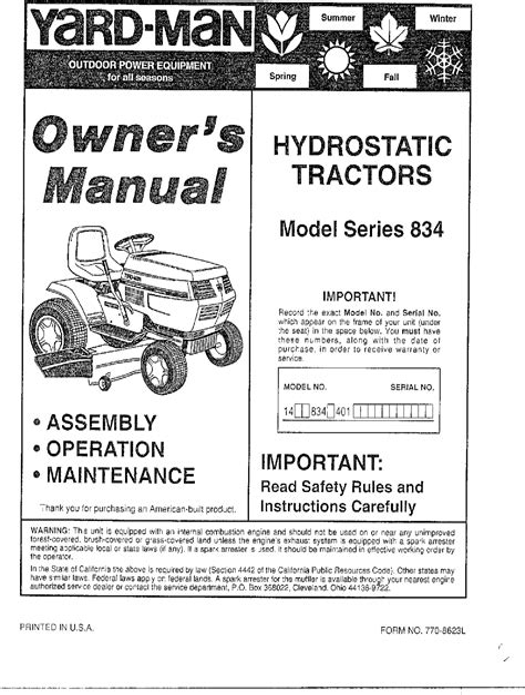 Mtd Parts Manual