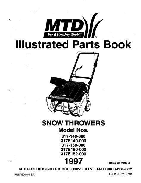Mtd Snowblower Manual Model Number