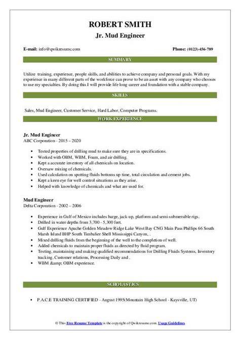 Mud Engineer Resume