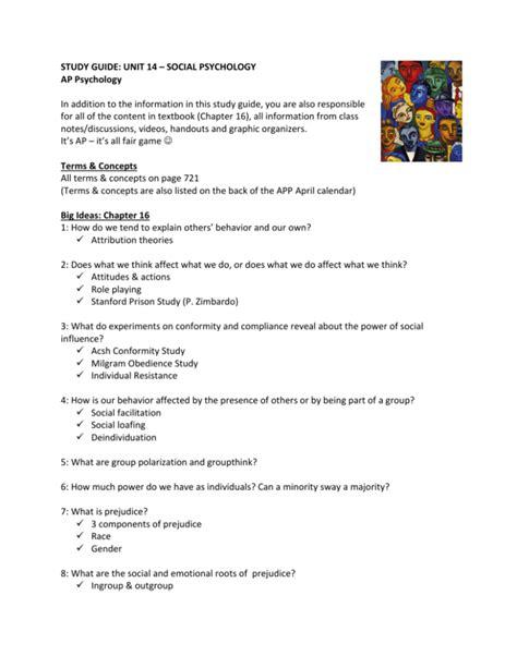 Myers Ap Psychology Unit 14 Study Guide