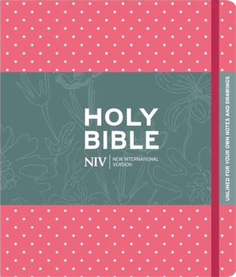 NIV Pink Polka Dot Journalling Bible with Unlined Margins (New International Version)