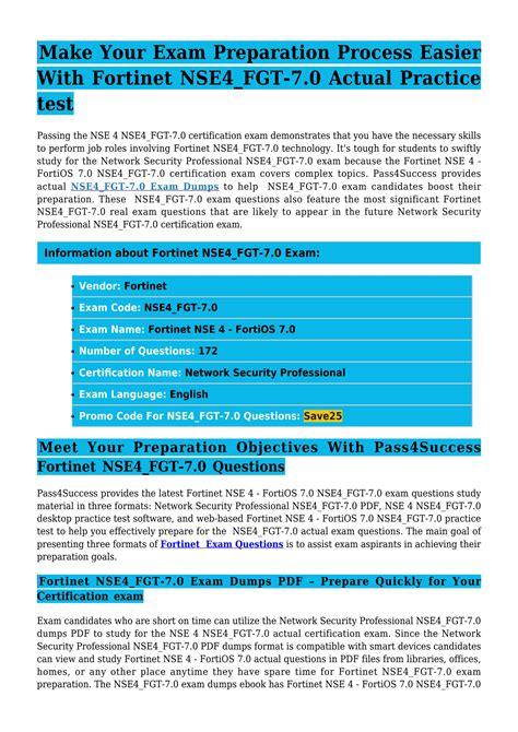 NSE4_FGT-7.0 Exam Simulations