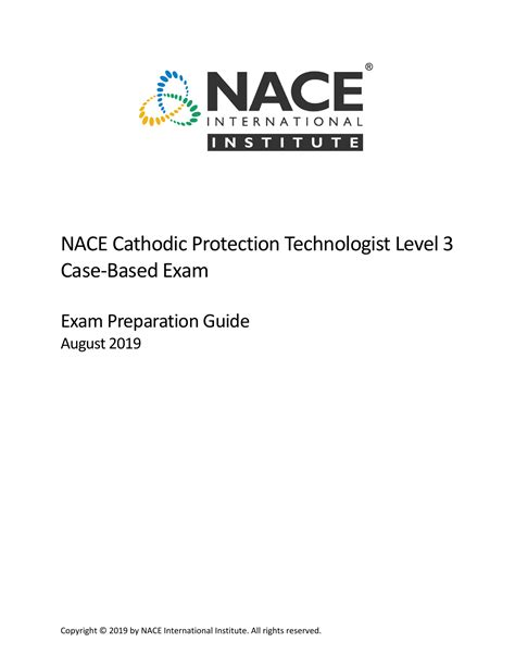 Nace Cp Level 3 Certification Study Guide