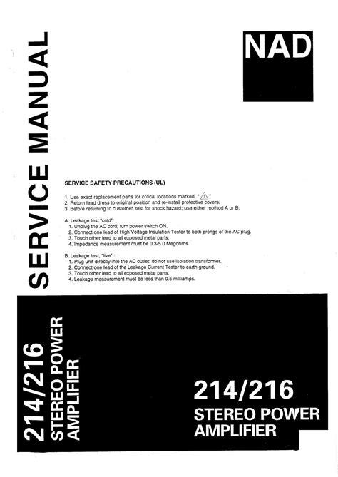 Nad 214 Service Manual