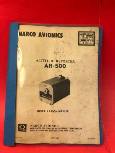 Narco Ar 500 Manual