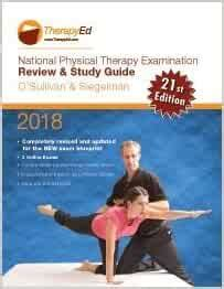 National Physical Therapy Examination Study Guide 2018