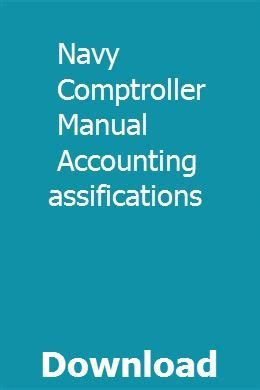 Navy Comptroller Manual Accounting Classifications