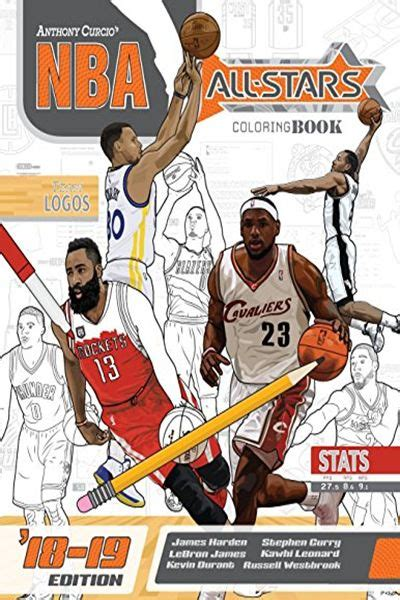 Nba All Stars 2018 2019 The Ultimate Basketball Coloring And Activity Book For Adults And Kids Volume 5 All Star Sports Coloring