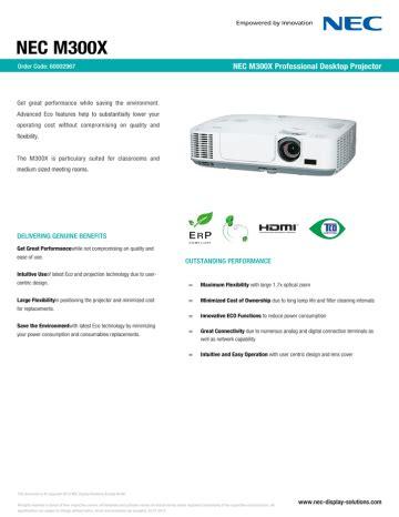 Nec M300x User Manual